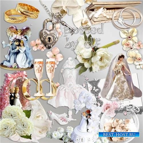 Свадебный клипарт в PNG - Особенный день