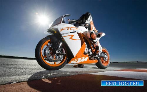 Шаблон для фотомонтажа - Парень на спортивном мотоцикле