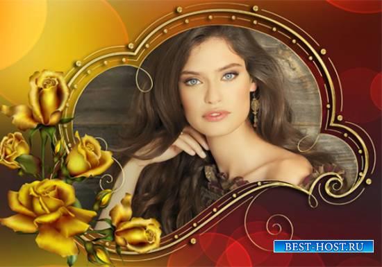 Рамка женская - Арoмат цветов рождает грёзы
