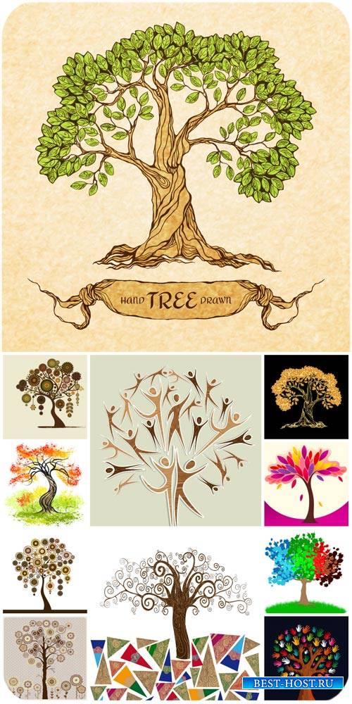 Деревья в векторе / Trees vector