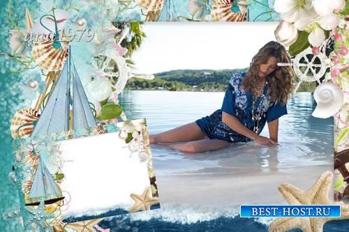 Рамка для фотошопа - Море, пальмы, жара