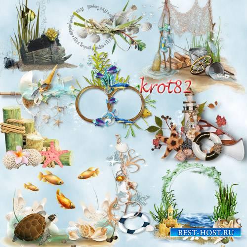 Подборка морского клипарта – кластеров – Морские фантазии