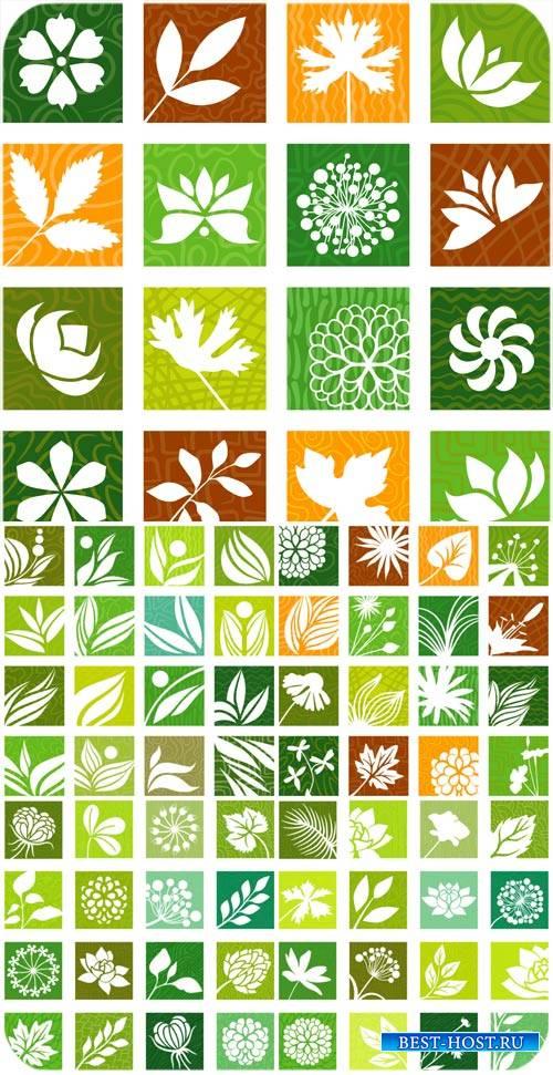 Природа, листья в векторе / Nature, leaves vector