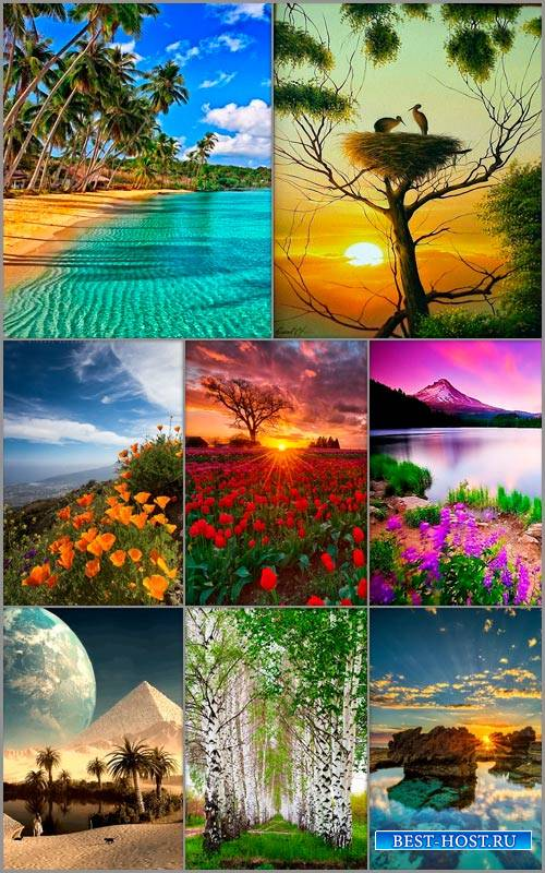 Пейзажные фоны для рамок и открыток 6