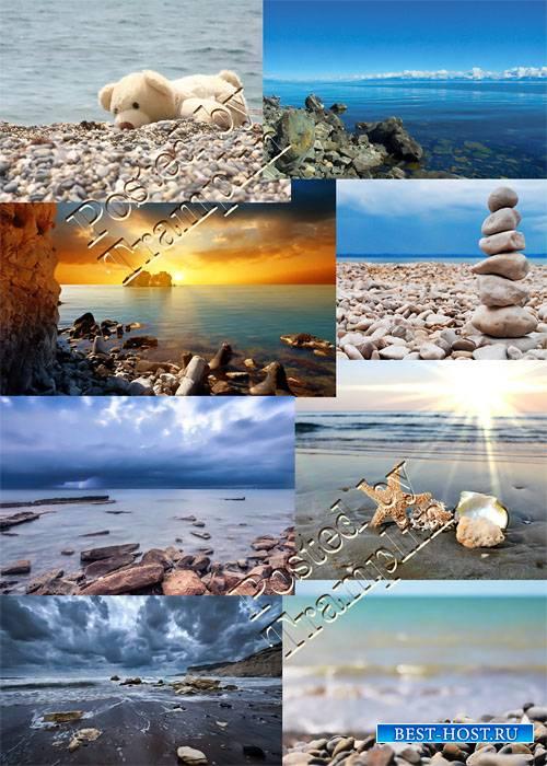 Море, камни, берег, небо – Растровый клипарт