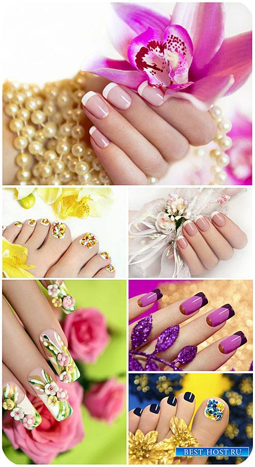 Красивый маникюр, педикюр / Beautiful manicure, pedicure - Stock photo