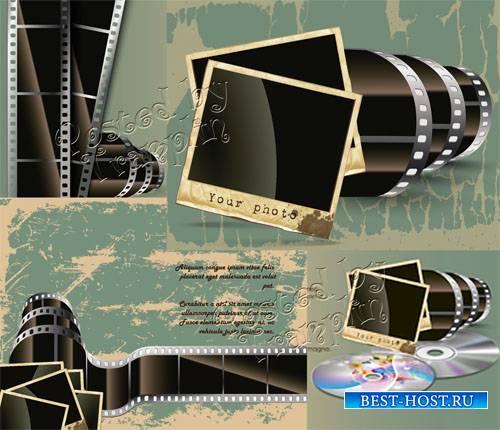 Кинолента равно Полароид снимок во векторе – Винтажный стиль