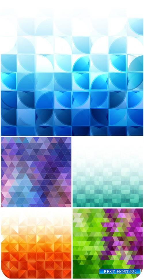 Векторные фоны, абстракция, разноцветные текстуры / Vector backgrounds, abs ...