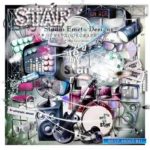 Музыкальный скрап-комплект - Ты моя звезда