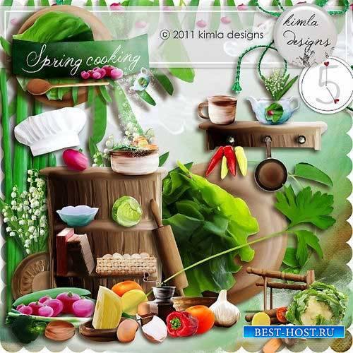 Поварской скрап-комплект - Весенняя готовка