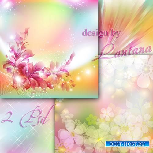Многослойные фоны - Летний день в убранстве цветочном