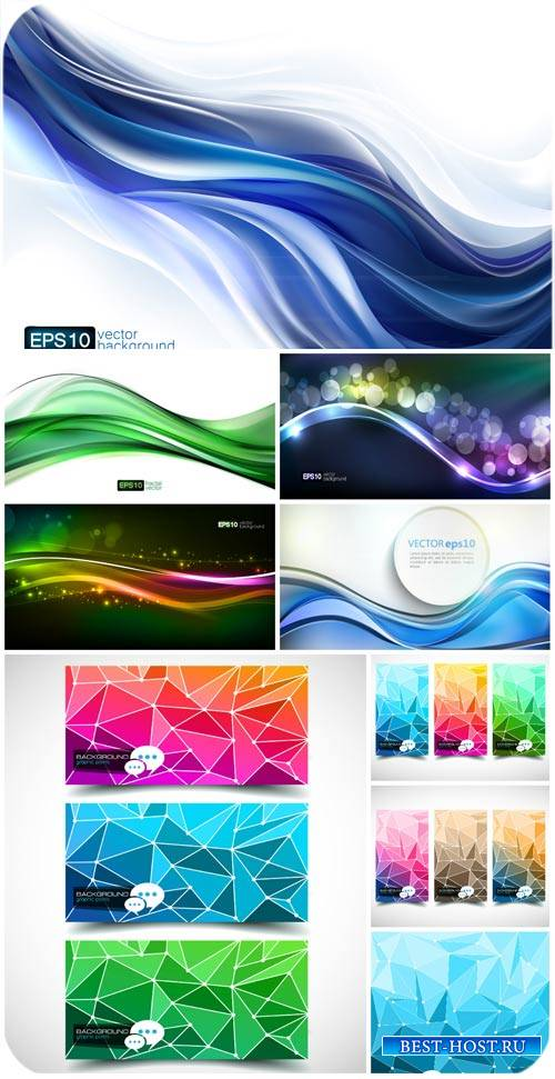 Фоны и баннеры в векторе, абстракция / Backgrounds and banner vector, abstr ...