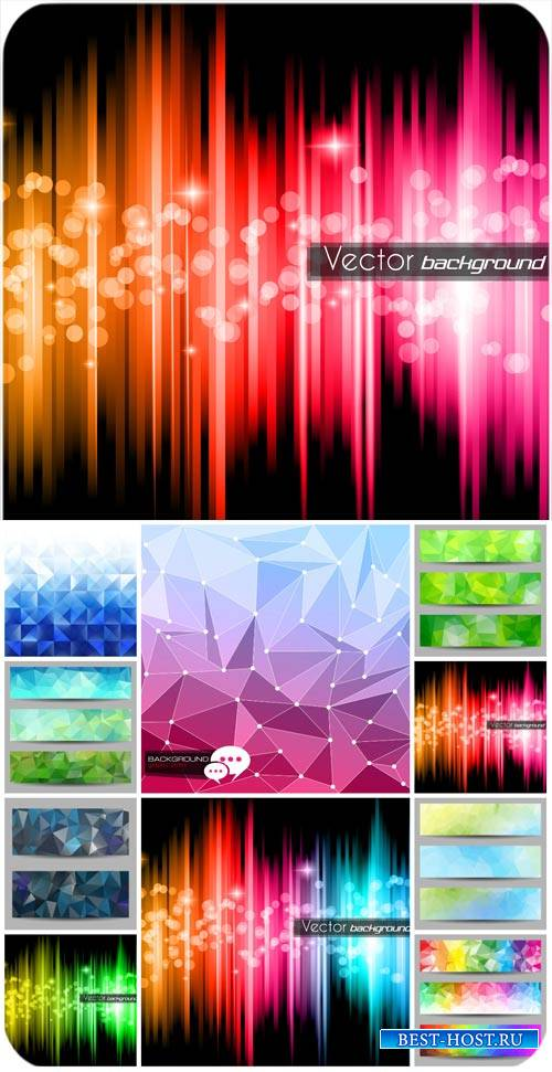 Абстрактные векторные фоны, баннеры / Abstract vector backgrounds, banners
