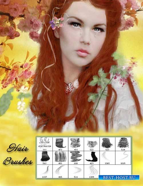Кисти для фотошопа - Женские волосы 2