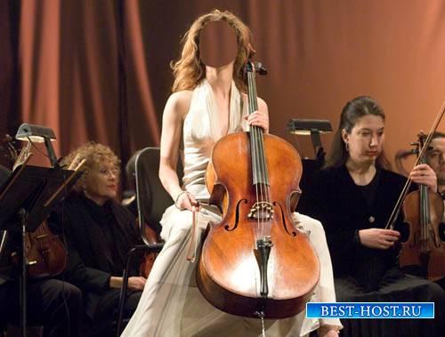 Шаблон женский - Красивая музыка виолончели
