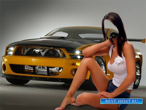 Шаблон для Photoshop - Крутой Mustang