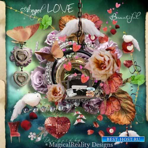 Романтический скрап-комплект - Ангел любви