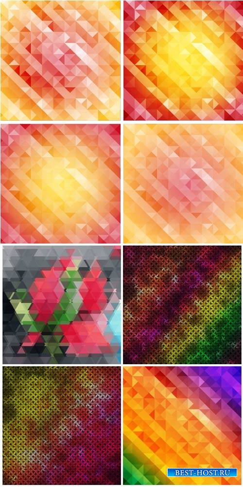 Абстрактные разноцветные фоны в векторе / Abstract colorful backgrounds vec ...
