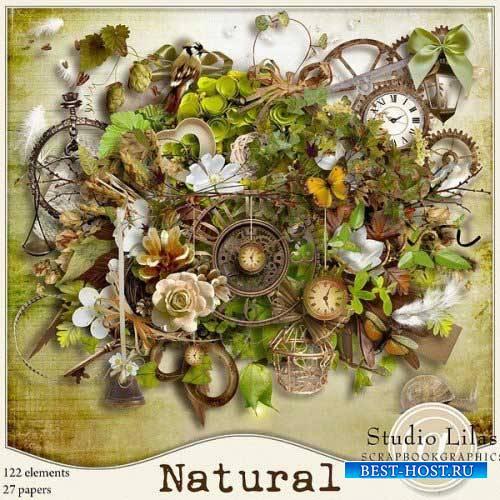 Очаровательный винтажный скрап-комплект - Природный