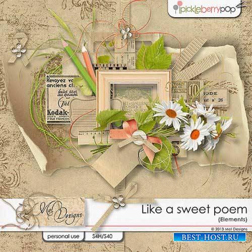 Оригинальный скрап-комплект - Такое приятное стихотворение