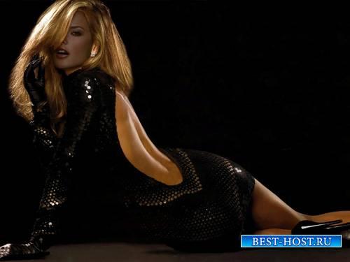 Шаблон psd - Красавица в черном платье