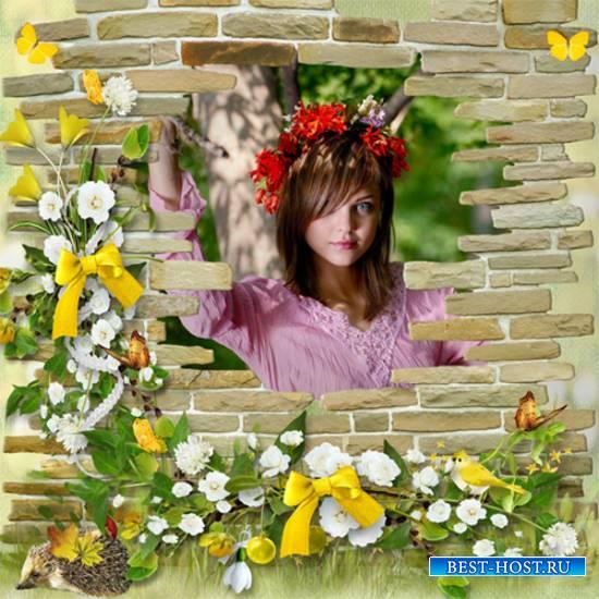 Рамка женская - Забытый сад