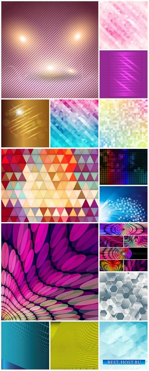 Абстрактные векторные фоны / Abstract vector backgrounds # 9