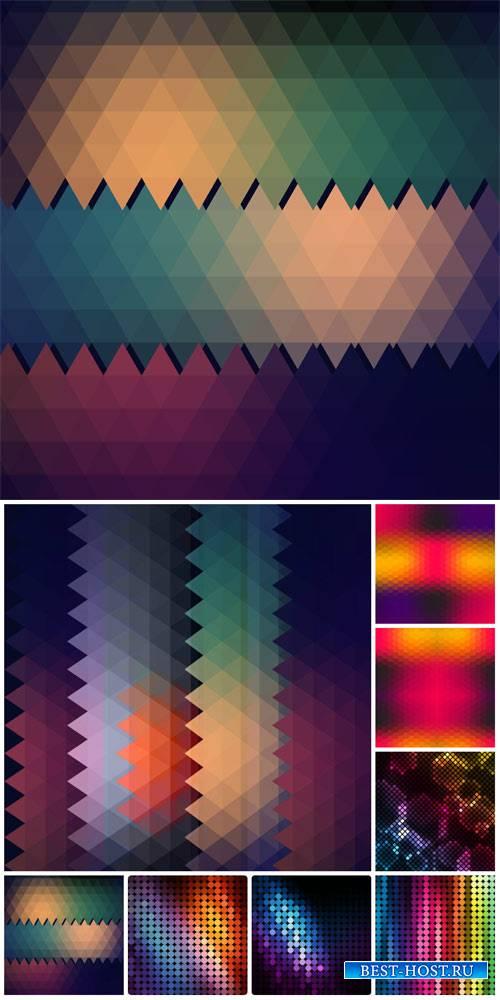 Абстрактные векторные фоны / Abstract vector backgrounds # 8