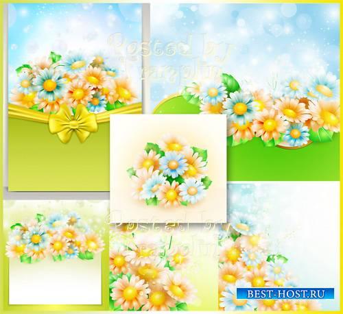 Цветочные фоны в векторе - Flower backgrounds in a vector