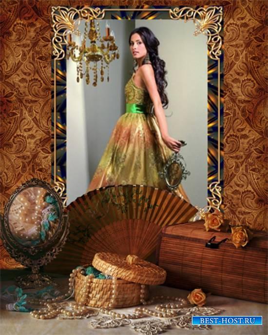 Рамка женская - Шкатулка с жемчугом