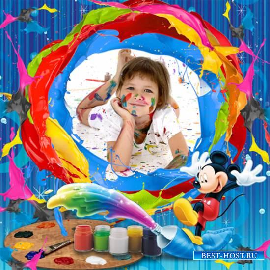Рамка детская - Этот красочный мир