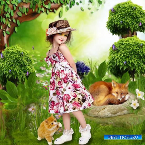 Шаблон  детский - Соломенная шляпка