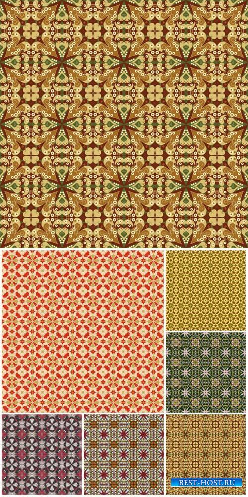 Векторные фоны с узорами / Vector backgrounds with patterns # 11