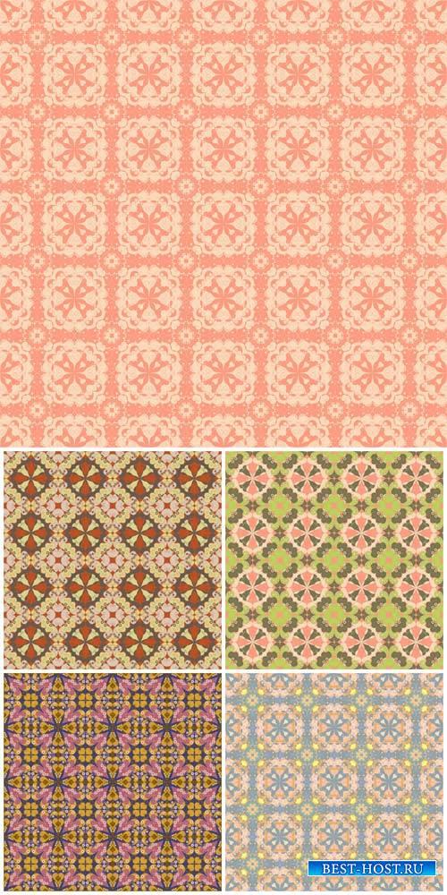Векторные фоны с узорами / Vector backgrounds with patterns