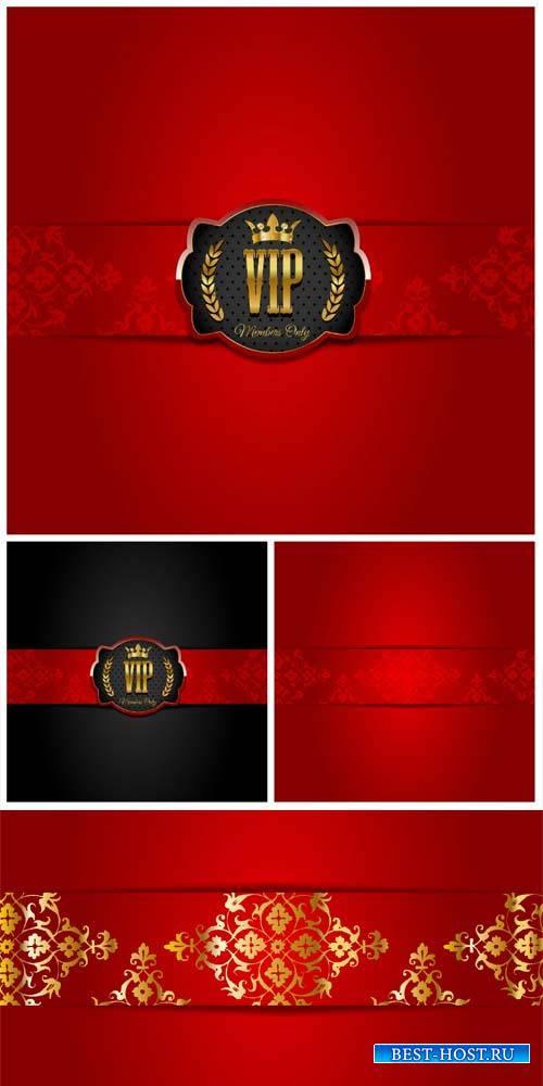 Красные и черные векторные фоны / Red and black vector backgrounds
