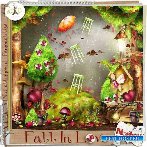 Осенний скрап-комплект - Fall in love