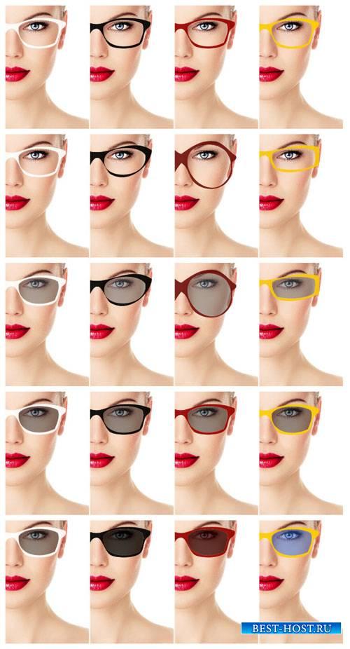 Модные женские очки / Women's fashion glasses - Stock Photo