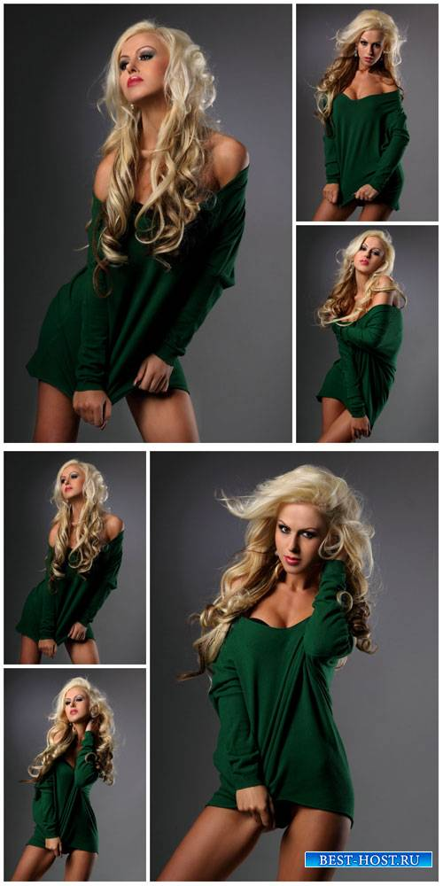 Девушка в зеленой кофточке / Girl in green blouse - Stock photo
