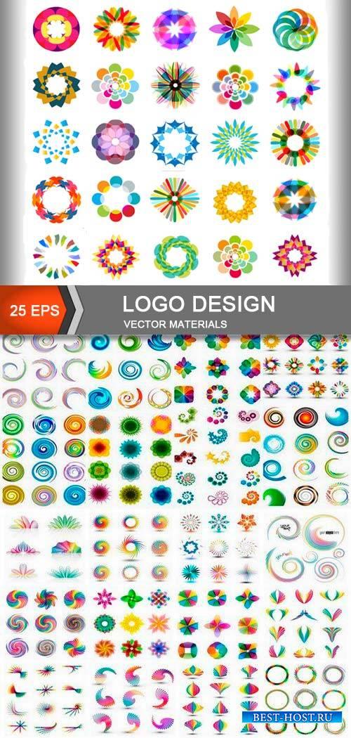 Дизайн абстрактных логотипов