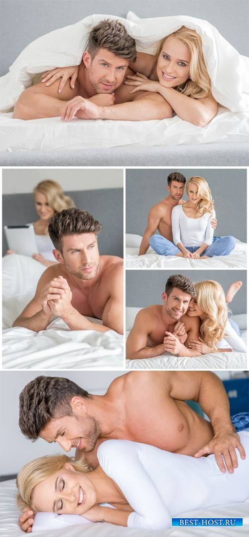 Мужчина и женщина в кровати, пара / Man and woman in bed, couple - Stock Photo