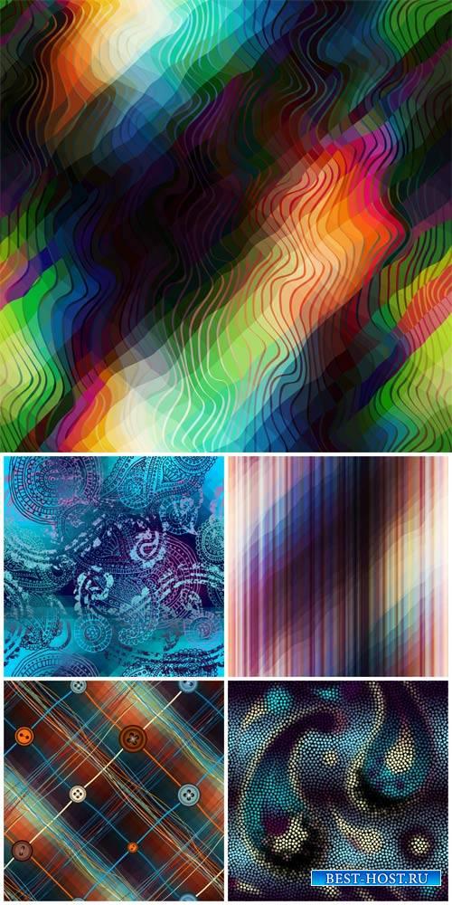 Векторные фоны, абстракция, разноцветные узоры / Vector backgrounds, abstra ...