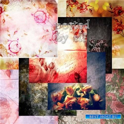 Винтажные фоны с розами