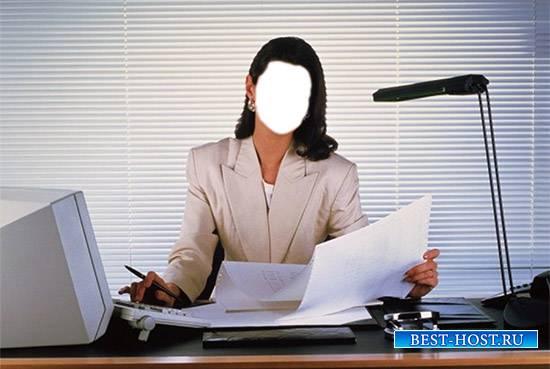 Женский фотошаблон - Леди-босс