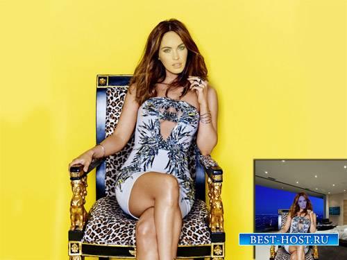 Шаблон для Photoshop - На троне в шикарном платье