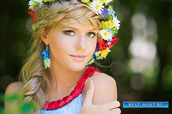 Женский фотошаблон - Королева цветов