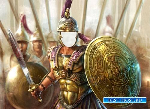 Шаблон для фотошопа - Воин Римской империи