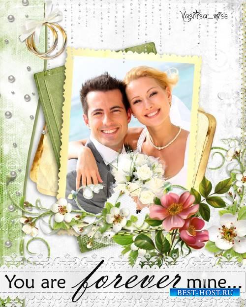 Свадебная рамка - Нежные цветы