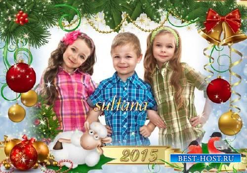 Рамка для фотошопа - Новый год 2015