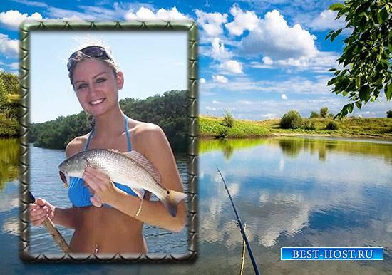фоторамка рыбака бесплатно