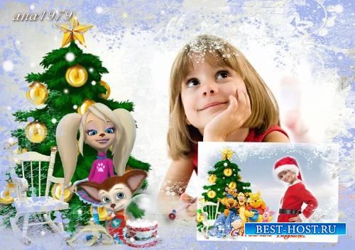 Рамка для фотошопа – С Новым Годом поздравляем всех ребят